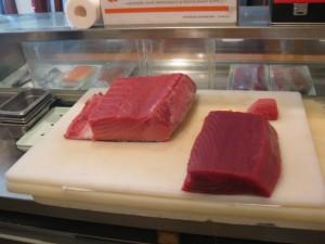 Flere forskellige typer af tun