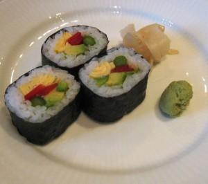 Hvordan smager japansk vegetarsushi?