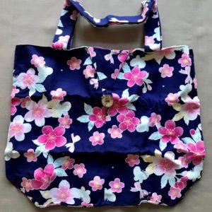 Japansk bæredygtig taske med små blomster