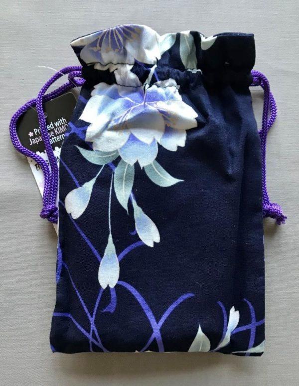 Japansk bæredygtig taske med hvide blomster
