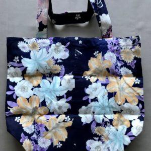 Japansk bæredygtig taske med gule blomster