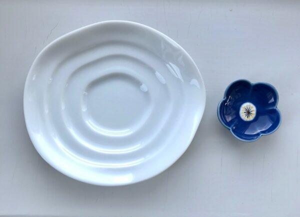 Hvid og blå sushi spisesæt