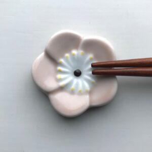 Japansk Rosa Flad Blomster Spisepindeholder