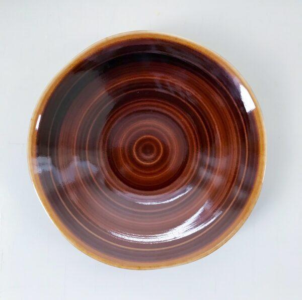 Soyaskåle med brune striber
