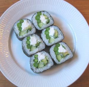 Hvilke grøntsager egner sig ikke til sushi?