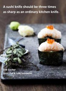 Hvor skarp skal en sushikniv være?