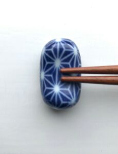 Japansk marineblå spisepindeholder