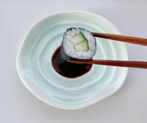 Japansk celadon soyaskål til sushi